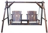 Comfortable Wooden Double Swing (YST93601)