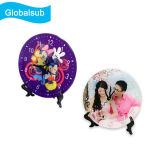 Decorated Acrylic Photo Plates with Stand for Personalized Printing