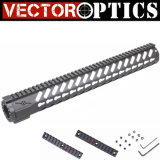 "Vector Optics Black Od Green 16.5"" M4 M16 Ar 15 Ar15 Keymod Free Float Handguard Rail System with Barrel Nut"