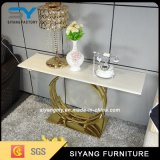 Glass Furniture Gold Metal Console Table Modern Console Table