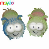 TPR Light up Puffer Ball Flashing Colorful Caterpillar Soft Plastic Toy