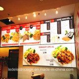 China Wholesale Wall Mounted Aluminum LED Framelessbacklit LED Light Box for Restaurant Menu Boad