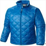 2015 Mens Stright Style Winter Blue Padded Goose Down Jacket