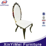 New Style Low Price White Leather Gold Stainless Steel Chair, Wholesale Wedding and Event Chairs