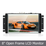 "8"" Metal Housing Wall-Mounted TFT Video Monitor for Security Display"