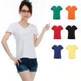 China Cheap Woman White Uniform T-Shirts for Hotel