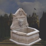 Marble Wall Fountain with Antique Treatment T-5765
