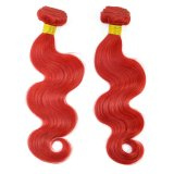 Beautiful Red Color Body Wave Brazilian Human Weft