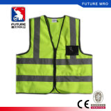 Ce Standard Reflective Vest Zipper Front with HIV Srtipes
