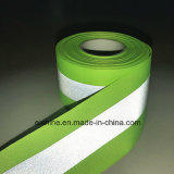 Custom Light Weight Washable Elastic Silver Reflective Ribbon Safety Strip Tape