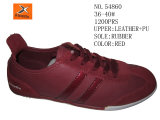 Leather and PU Upper EVA Outsole Cheap Lady Casual Shoes