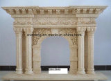 Marble Fireplace, Decorative Cheap Marble Fireplace Mantel, Marble Fireplace Frame