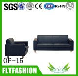 of-15 Modern Double Office Sofa Comfortable PU Leather Sofa