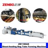 Portable Paper Bag Tube Body Adhesive Pasting Machine with Top Folding Zb1180as