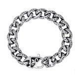 Stainless Steel Jewelry Men Link Bracelets Silver Balck 8.3 Inch