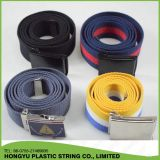 Factory Custom Cotton Webbing Canvas Belt with Metal Buckle