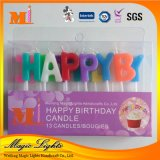 Happy Birthday Letter Candle with Shimmering Powder