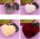 Fuzzy Animal Real Fur POM Keychain Ball Bag Charms Wholesale