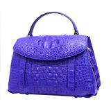 Lady Handbag Genuine Crocodile Exotic Leather Top Handle Tote Bag