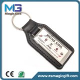 Promotional Printing Sticker Leather Keychain for Advertising