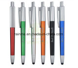 Plastic 3 in 1 Multifunction Fancy Flashlight Stylus Pen for Promotion
