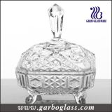 Middle East Stock Glass Candy Sugar Jar (GB1803R)