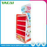 Folded Paper Floor Retail Exhibition Stand Wholesale Display Rack