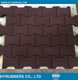 Shock Proof Recycled Rubber Material Cheap Rubber Dog Bone Tile, Interlock Rubber Floor Tile