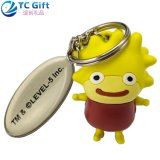 Wholesale Custom Hipster 3D Logo PVC Key Finder Company Travel Promotional Items Personalized Keychain Colorful Cartoon Doll Toy Funny Plastic Rubber Keyring