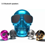 2018 New Fancy Christmas Gift Cheap Mini Wireless Skull Bluetooth Speaker