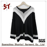 Ladies Fashion Casual Color Mixing Fashion Knit Sweater