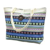 Large Capacity Cotton Canvas Shopping Tote Bag for Women and Girls