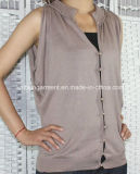 Women Knitted V Neck Cardigan with Buttons (11SS-190)