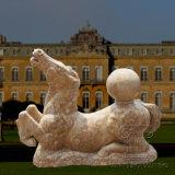 Outdoor Marble Fountain Horse Sculpture Granite Stone Fountain for Garden Decoration