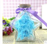 Empty Transparent Glass Bottle Art Craft for Gift
