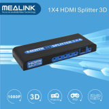 Factory Price 1X4 HDMI Splitter Support 3D 1080P