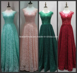 Lace Party Prom Gown Beading Stock Cheap Bridesmaid Evening Dress A17198