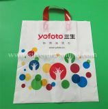 Custom Colourful Poly Plastic Soft Loop Carrier Bags, Promotional Bag, LDPE