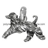 Engraved Silver Color of Pewter Dog Afghan Hound Charm