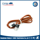 Stitch Leather USB Charging Cable Fashion Design 2.1A TUV