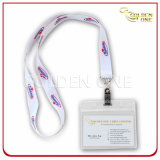 Customized Cord Printed Polyester ID Badge Holder