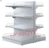 Korean Style Supermarket Shelf with Wire Mesh Stopper (OW-A07)