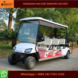 8 Passenger Electric Golf Cart Electric Vehicles with Rear Flip Seats