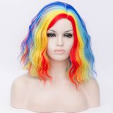 2019 Hot Sale Colorful Wig Beauty Body Wave 100% Synthetic Hair Wigs