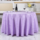 120cm Round Polyester Table Cloth in Cheap Price (DPF107105)
