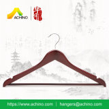 Flat Wooden Suit Hangers with Wooden Bar (WS100)