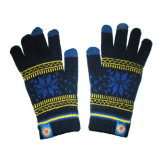 Jacquard iPhone Touchscreen Knitted Glove with Snowflake (JRAC057)