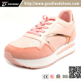 Fashion Lady Comfortable Pink Healthy Sneaker Shoe Women Casual Shoes (EXI-9155)