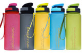 Customized Hot Sale Matt Plastic Sport Water Bottle with Rope