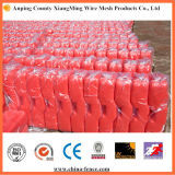 Red PVC Base Used for Temporary Fence